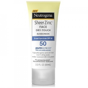 Sheer Zinc Face Dry-Touch Sunscreen Broad Spectrum SPF 50 by Neutrogena