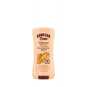 Shimmer Effect Lotion Sunscreen with Mica Minerals Broad Spectrum SPF 20 by Hawaiian Tropic