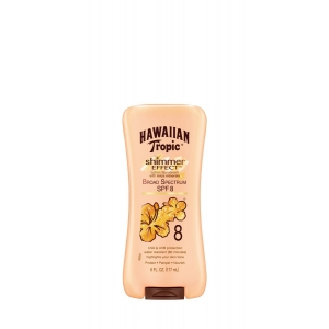 Shimmer Effect Lotion Sunscreen with Mica Minerals Broad Spectrum SPF 8 by Hawaiian Tropic