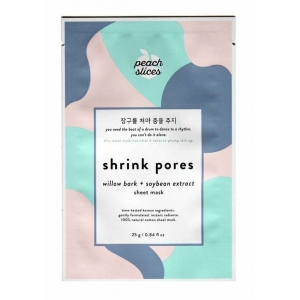 Shrink Pores Sheet Mask - Willow Bark + Soybean Extract by Peach Slices