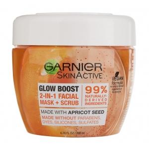 SkinActive Glow Boost 2-in-1 Facial Mask + Scrub by Garnier