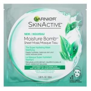 SkinActive Moisture Bomb The Super Hydrating Sheet Mask, Mattifying by Garnier