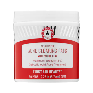 Skin Rescue Acne Clearing Pads with White Clay by First Aid Beauty