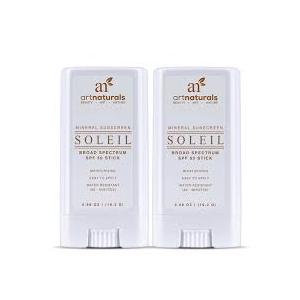 Soleil SPF 50 Sunscreen Sticks by ArtNaturals