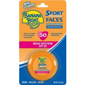 Sport Performance Faces Clear Zinc Sunscreen SPF 50 by Banana Boat