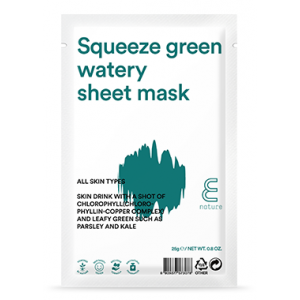 Squeeze Green Watery Sheet Mask by Enature