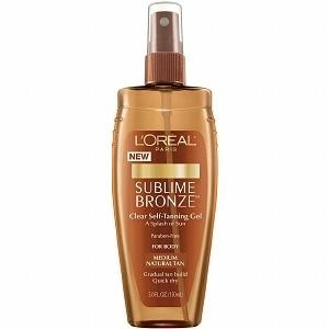 Sublime Bronze Clear Self-Tanning Gel Medium Natural Tan by L'Oreal Paris