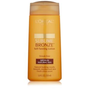 Sublime Bronze Self-Tanning Lotion SPF 15, Medium Natural Tan by L'Oreal Paris