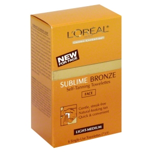 Sublime Bronze Self-Tanning Towelettes, for Face, Light-Medium by L'Oreal Paris