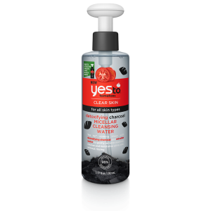 Tomatoes Clear Skin Detoxifying Charcoal Micellar Cleansing Water by Yes To