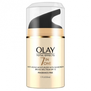 Total Effects 7-in-1 Anti-Aging Moisturizer with Sunscreen Broad Spectrum SPF 15, Fragrance Free by Olay