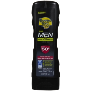 Triple Defense Sunscreen Lotion for Men SPF 50 by Banana Boat for Men
