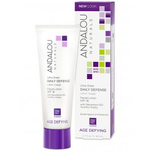 Ultra Sheer Daily Defense Facial Lotion SPF 18 by Andalou Naturals