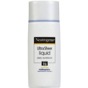 Ultra Sheer Liquid Daily Sunscreen Broad Spectrum SPF 70 by Neutrogena