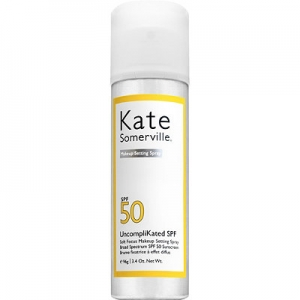 UncompliKated SPF Soft Focus Makeup Setting Spray Broad Spectrum SPF 50 Sunscreen by Kate Somerville