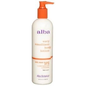 Very Emollient Body Lotion Daily Shade Formula SPF 15 by Alba Botanica