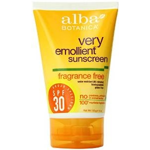Very Emollient Sunscreen Fragrance Free Broad Spectrum SPF 30 by Alba Botanica