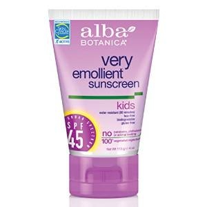 Very Emollient Sunscreen Kids SPF 45 by Alba Botanica