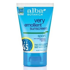 Very Emollient Sunscreen Sport Broad Spectrum SPF 45 by Alba Botanica