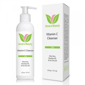 Vitamin C Facial Cleanser 15% With Rosehip Oil & Tea Tree Oil by Amara Beauty