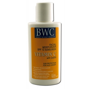 Vitamin C with CoQ10 Facial Moisturizer SPF-12 by Beauty Without Cruelty