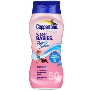 Water Babies Pure & Simple Lotion SPF 50 by Coppertone