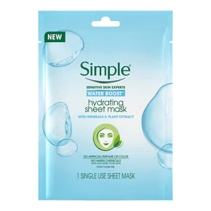 Water Boost Hydrating Sheet Mask by Simple