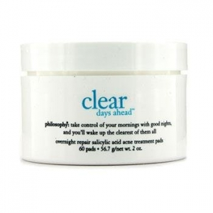 Clear Days Ahead Overnight Repair Salicylic Acid Acne Treatment Pads by philosophy
